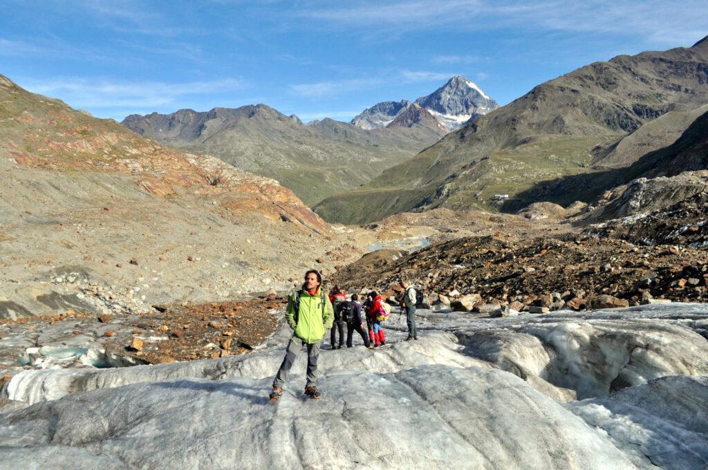 breve breefing prima di affrontare il ghiacciaio