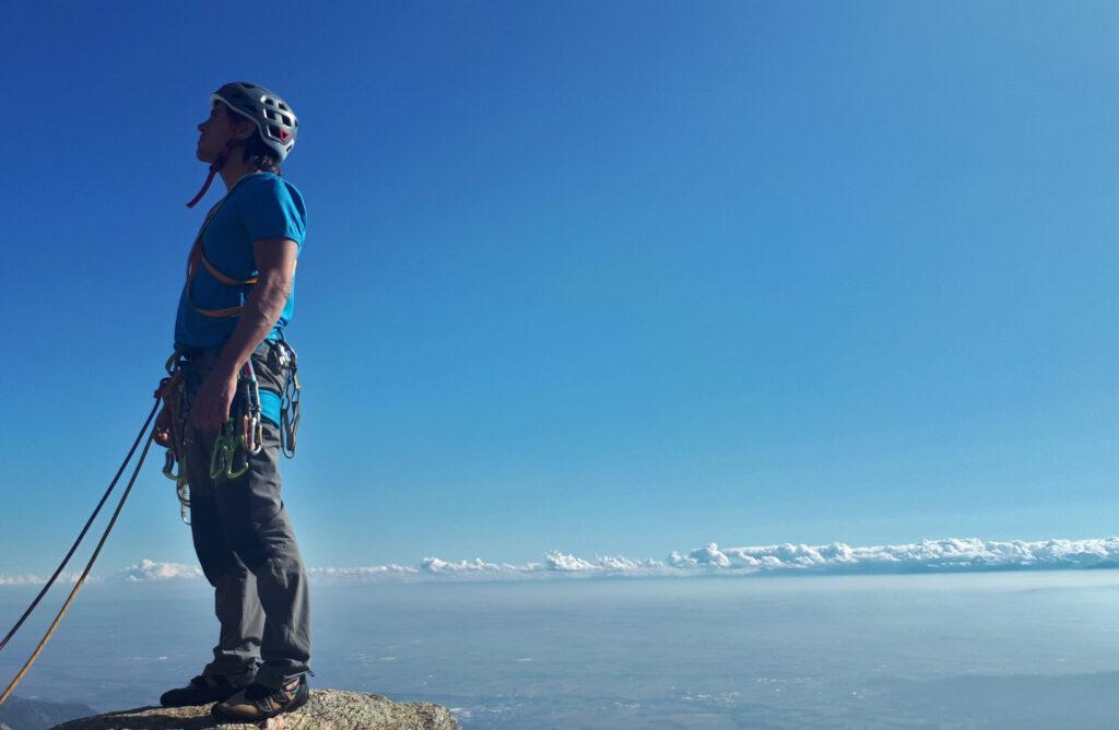 """panorama spettacolare dalla cima... ma stiamo già guardando """"oltre"""" :)"""
