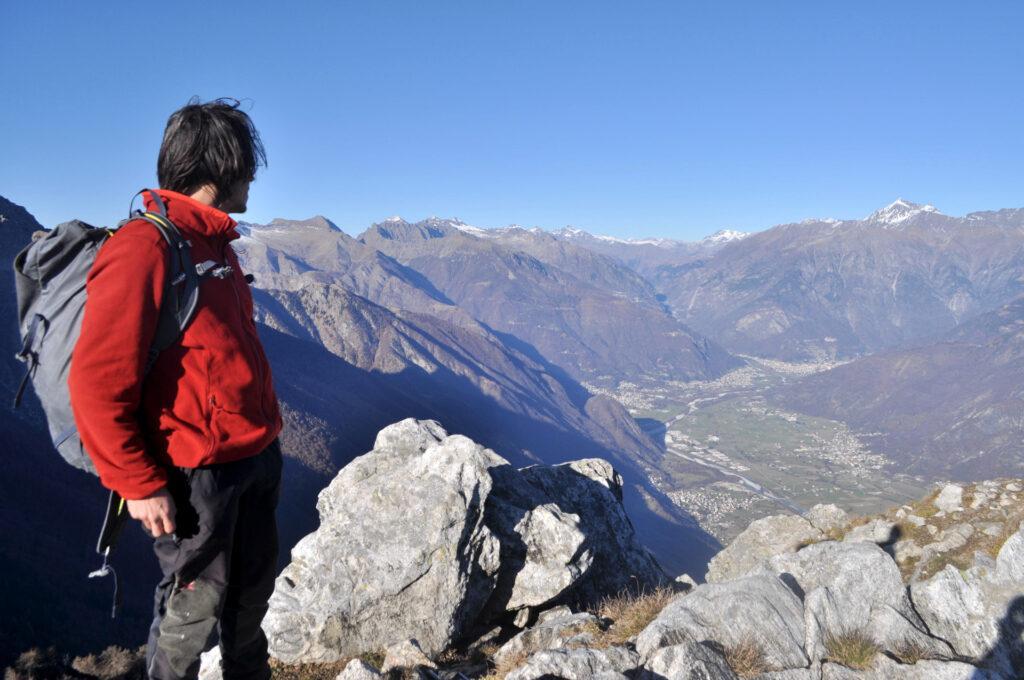 e dall'altra parte la Val Chiavenna: verso l'infinito e oltre!