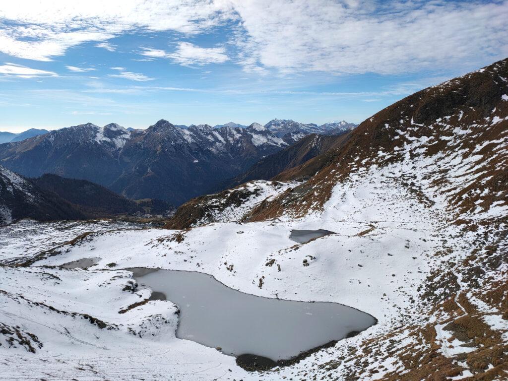 Laghetti di Monte bello visti dall'alto