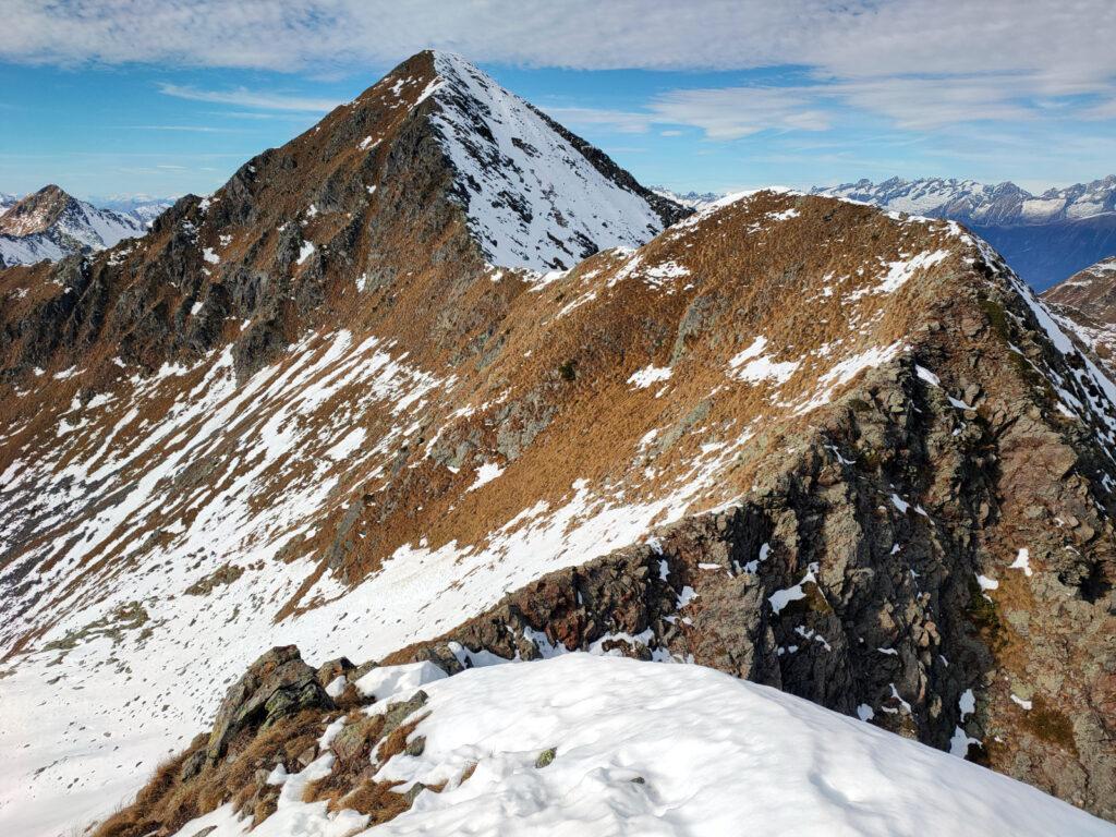 L'ultima parte della cresta per il monte Toro
