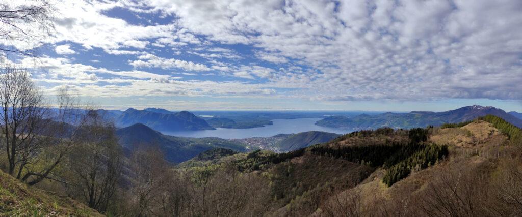 Panoramica del lago Maggiore e Varbania