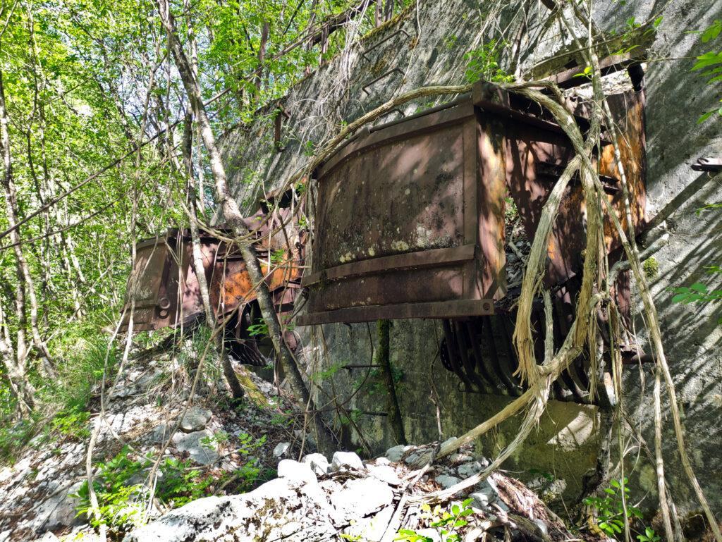 Questo è presumibilmente il punto in cui i metalli venivano caricati sui carrelli per essere portati a valle