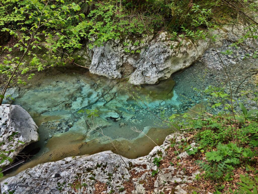 l'acqua del Parina è totalmente cristallina