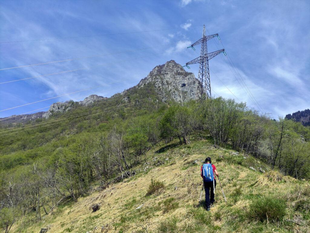 Eccoci finalmente alla prima selletta da cui si vede finalmente il Monte Ortighera