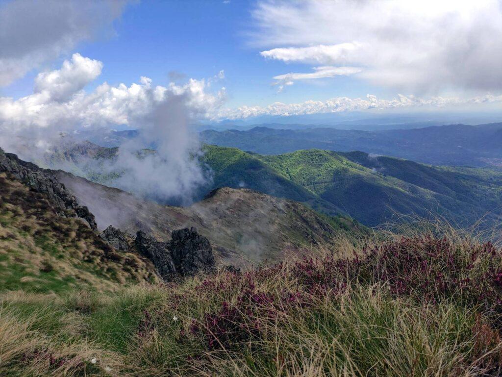 La vista sulla Valsesia è sempre molto bella