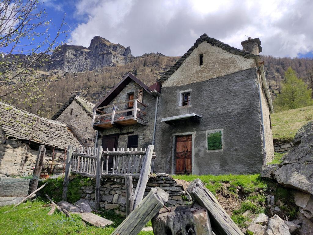 le belle case dell'Alpe Solcio