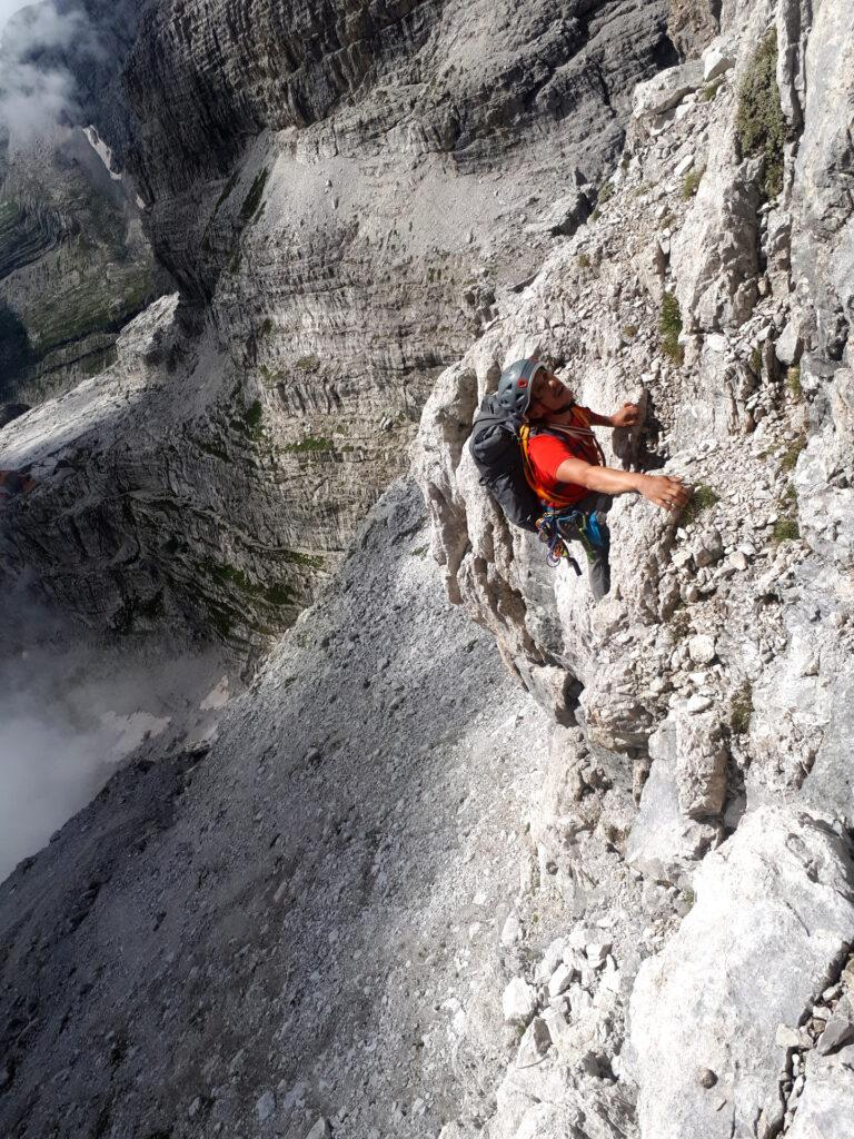 qualche metro di facile e divertente arrampicata