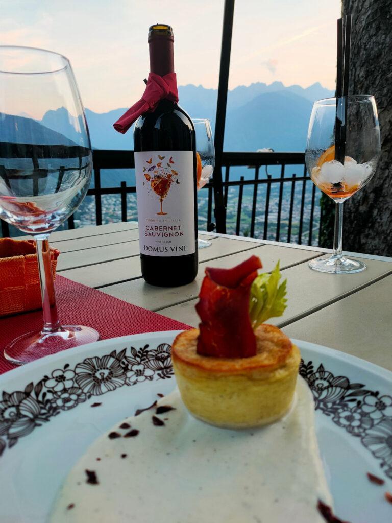 finalmente a tavola! Posto bellissimo questo ristorante La Terrazza e cibo ottimo!